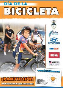 Cartel. Día de la bicicleta. 2009