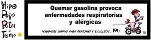 Quemar gasolina provoca enfermedades respiratorias y alérgicas
