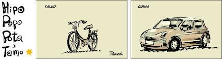 Salud-Bici. Ruina-Coche