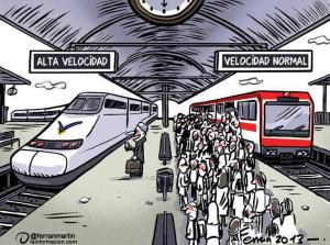 Alta velocidad y normal en trenes