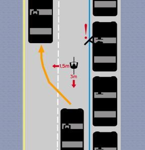 Circular por el centro del carril