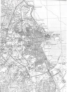 Mapa topográfico de Melilla 1-25.000