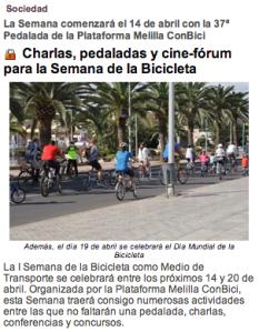 I Semana de la Bicicleta como medio de transporte
