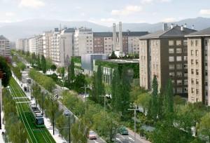 Avenida Gasteiz en Vitoria