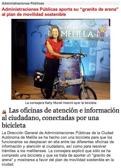 Las oficinas de atención e información al ciudadano, conectadas por una bicicleta