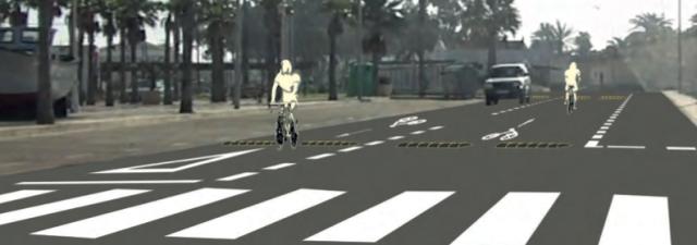 Vía ciclista compartida