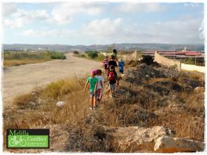 Caminata SEM. Niños y escombros