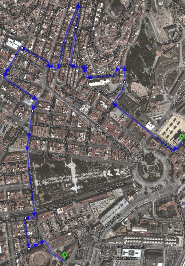 II Caminata por centro urbano