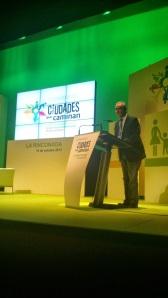 Consejero Seguridad Ciudadana de Melilla en I Congreso de Ciudades que Caminan