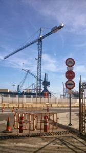 Prohibido bicicletas. Autoridad Portuaria Málaga
