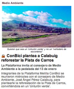 0. ConBici plantea a Calabuig reforestar la Pista de Carros