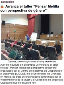 Arranca el taller Pensar Melilla con perspectiva de género