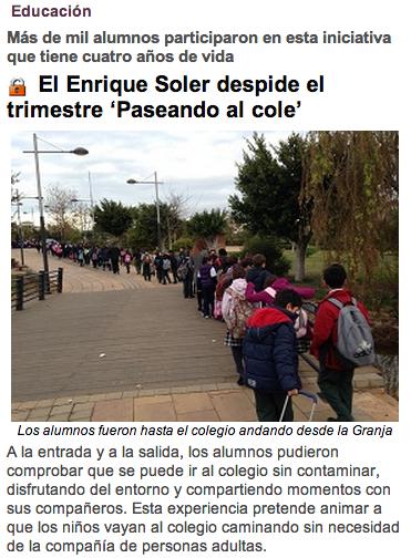 El Enrique Soler despide el trimestra %22Paseando al cole%22