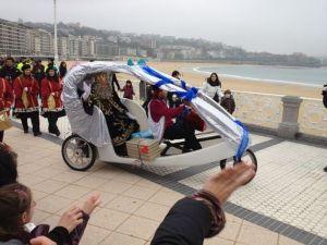 Reyes Magos en bicicleta
