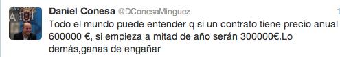 Tweets Daniel Conesa