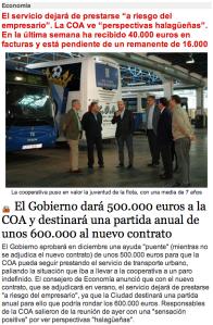 Coste del transporte público
