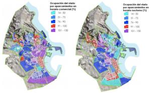 Ocupación aparcamiento horario comercial y nocturno (residencial)