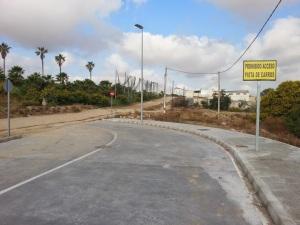 Prohibido acceso. Pista de carros