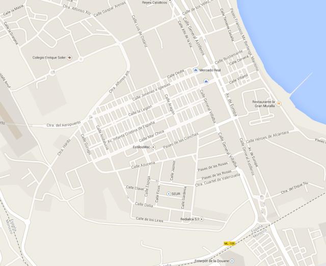 Barrio Del Real. Calles principales