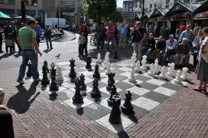 Tablero ajedrez público