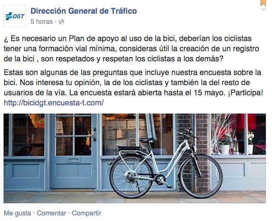Encuesta DGT movilidad ciclista