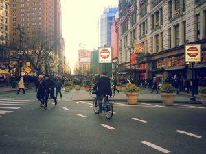 New York. Sin continuidad tráfico motorizado