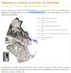 PMUS. Peatones y ciclistas en el Plan de Movilidad