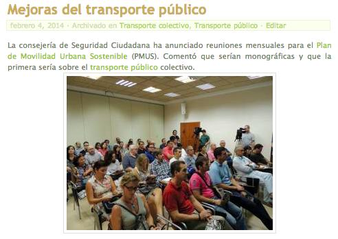 Post Mejora del transporte público en Melilla