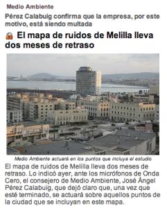 El mapa de ruidos de Melilla lleva dos meses de retraso