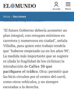 Javier Villalba #Ciudad30 y #LasBicisPorElCentro