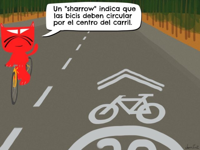 Sharrow y gato Peráltez. #LasBicisPorElCentro