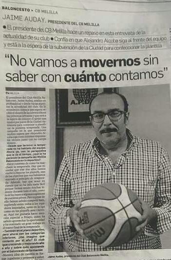 Jaime Auday. Melilla baloncesto