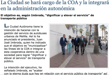 Municipalizar COA