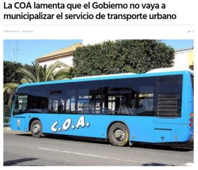 No municipalizarán COA